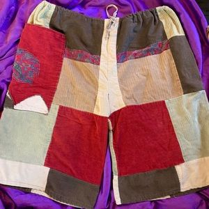 Other - OOAK HANDMADE corduroy shorts size xl drawstring
